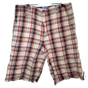 4/$25Plugg Mens X-Long Flat Front Casual Shorts